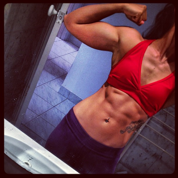 ripped female abs photos