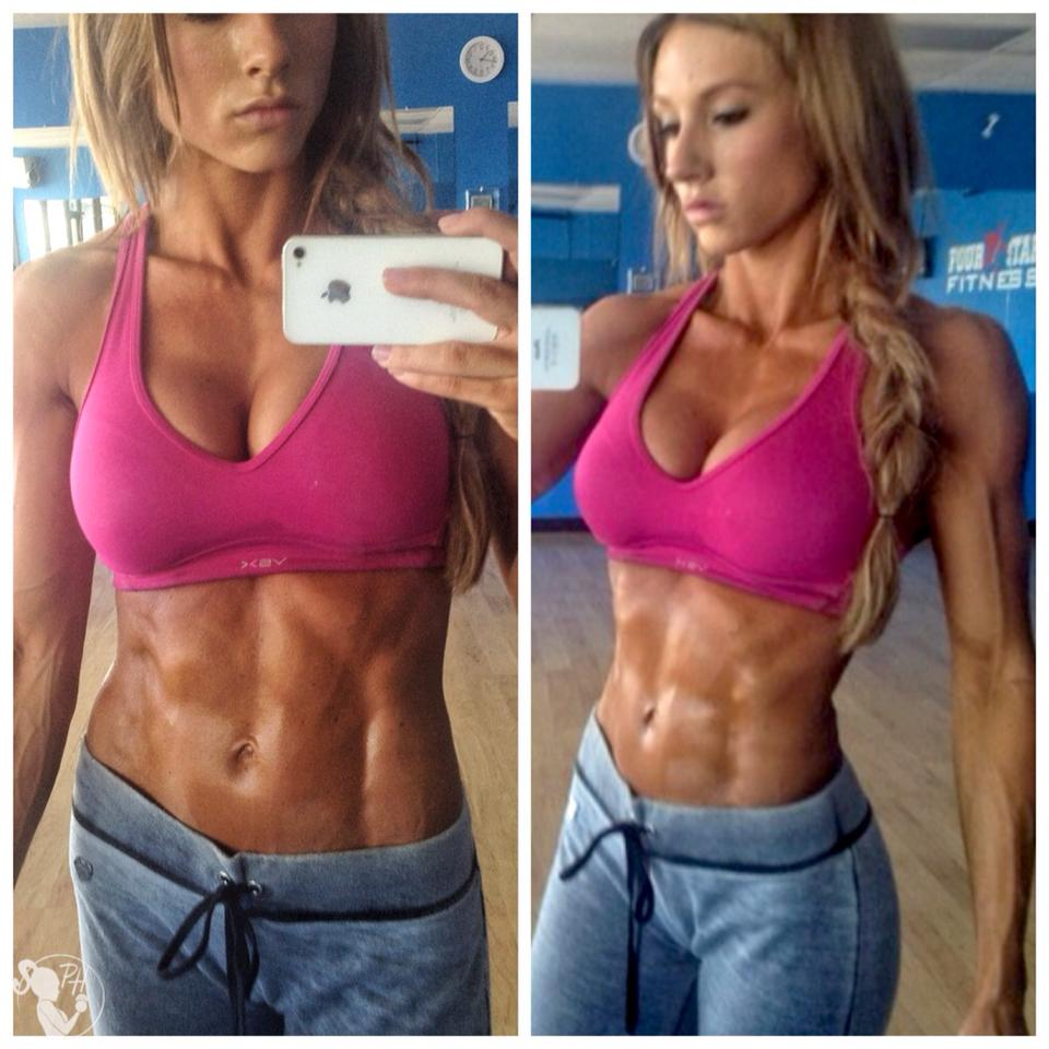 Paige Hathaway Fitness Model Abs