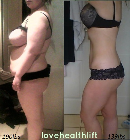 weight loss before and after simulator
