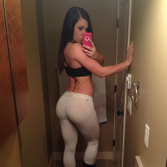 Something is. Girl with nice ass selfie message