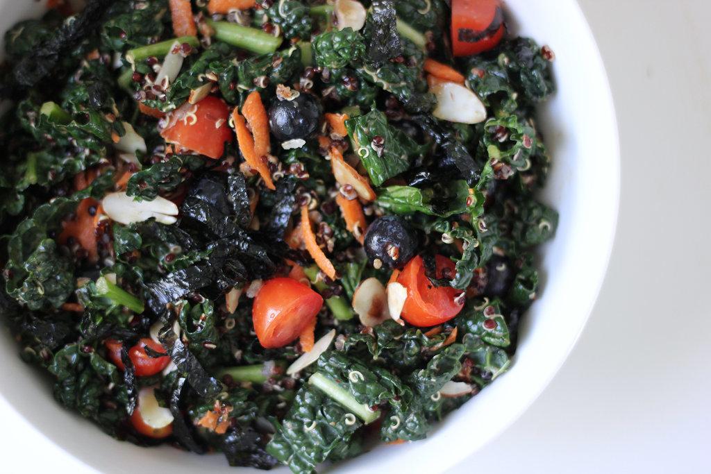 Blueberry-Quinoa-Kale-Salad