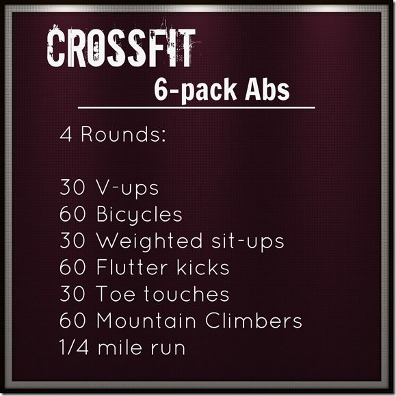 crossfit 6 pack abs