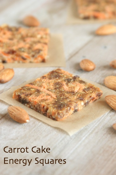 Energy Squares Chia And Carrot Cake