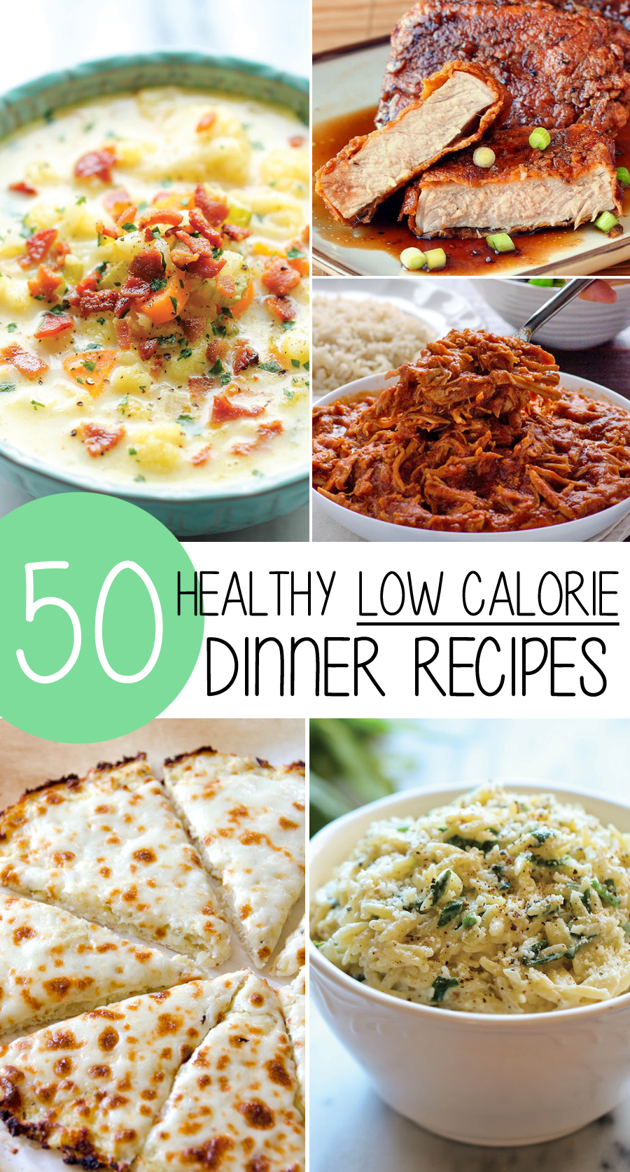 50 healthy low calorie weight loss dinner recipes