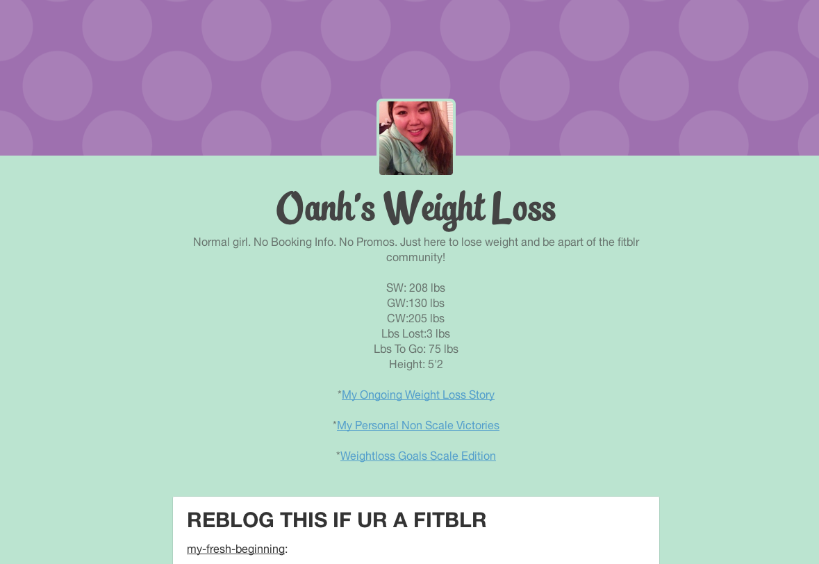 Oanhfitblr Tumblr Com Oanh S Weight Loss