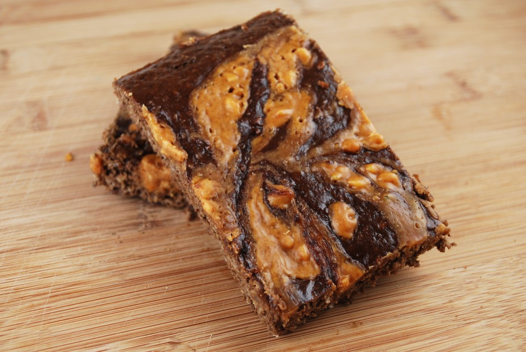 12. Chocolate Peanut Butter Swirl Bars