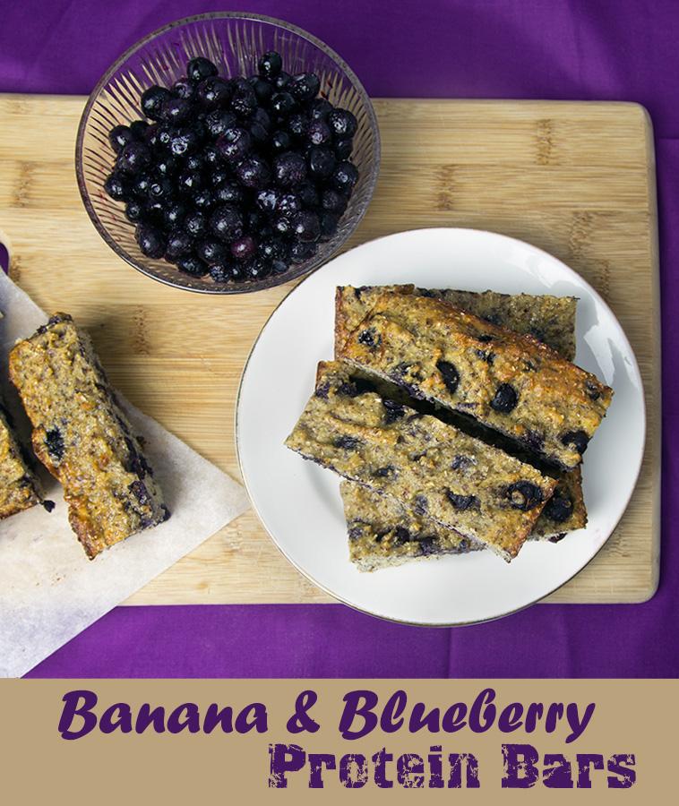 19. Blueberry Banana Bars