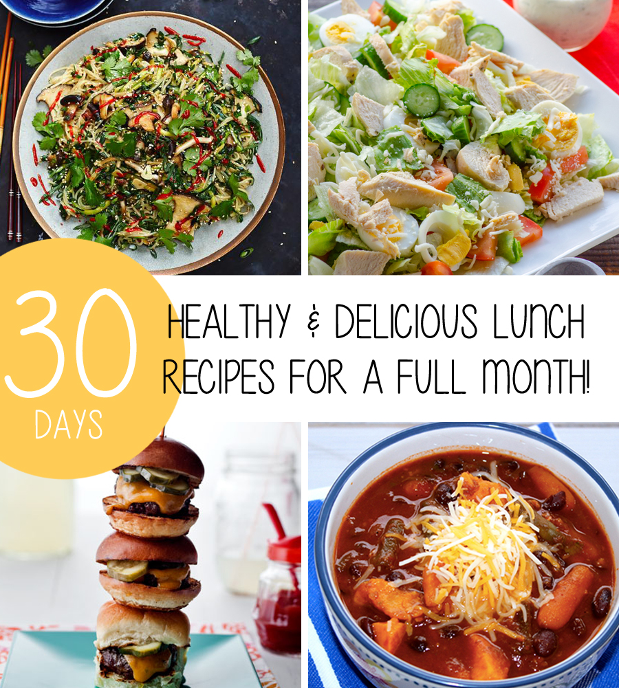 Healthy Delicious Weight Loss Lunch Recipes For A Full Month