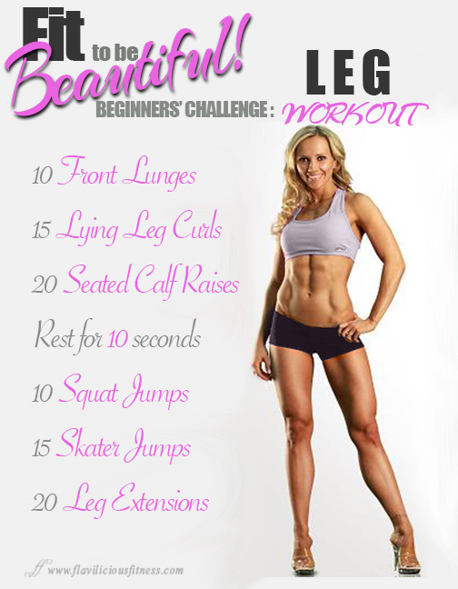 Fit To Be Beautiful Beginners Challenger Leg Workout