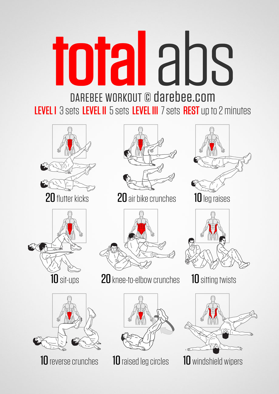 20 Stomach Fat Burning Ab Workouts From NeilaRey