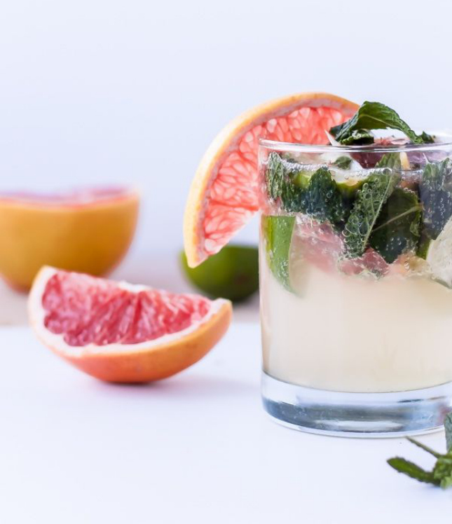 13. Grapefruit Mint Coconut