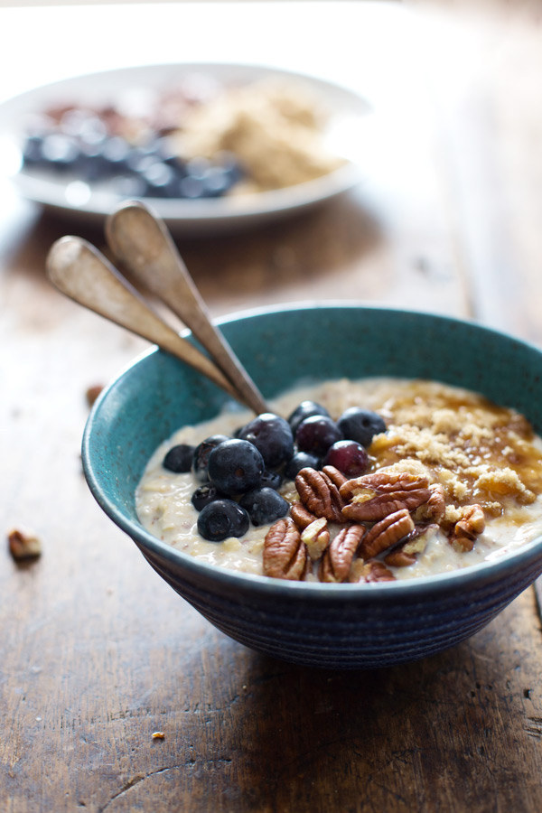 3. Flax & Blueberry Vanilla Overnight Oats