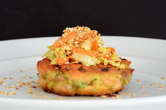 33. Salmon Wasabi Burger