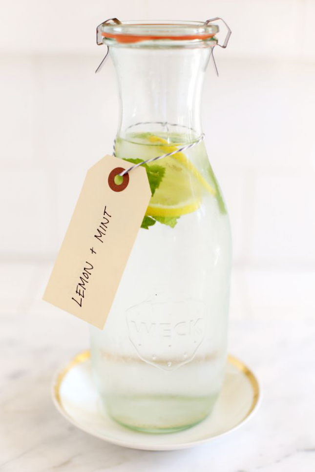 4. Lemon Mint Water