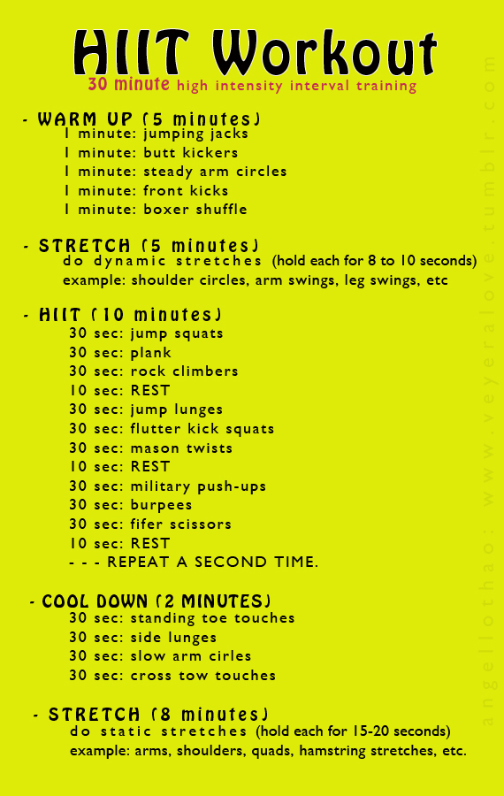HIIT Workout 20 Weight Loss