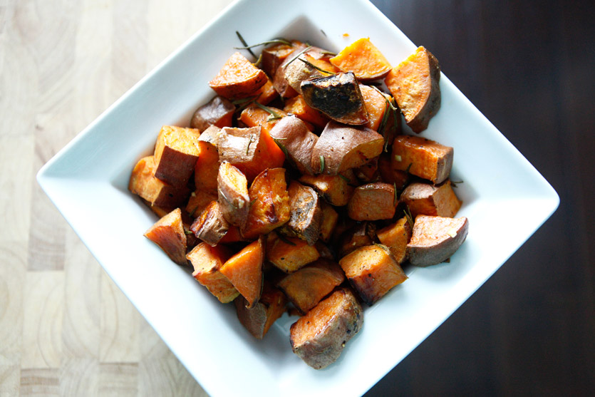 7. Rosemary Sweet Potatoes