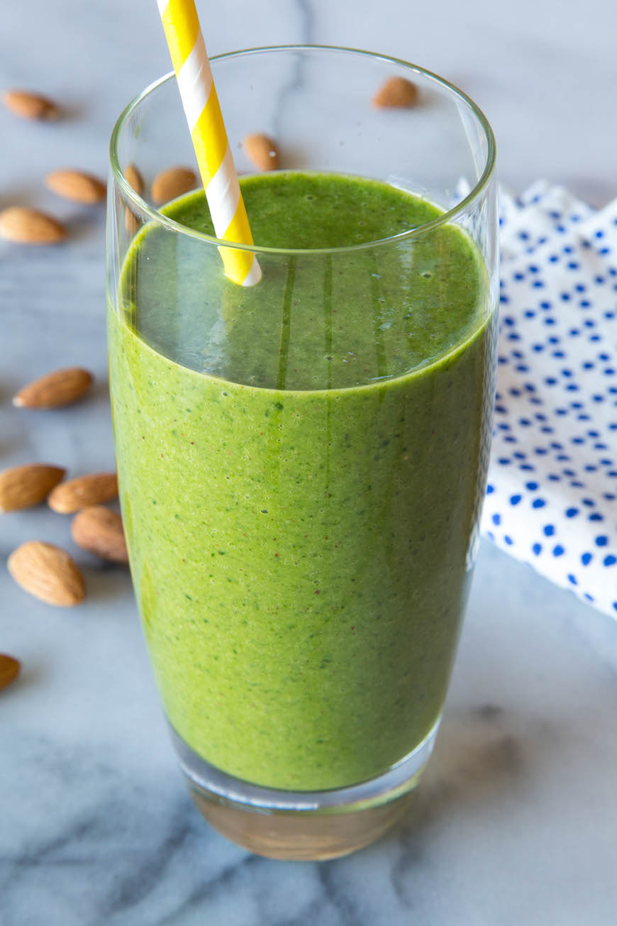 12. Almond Butter Spinach Smoothie