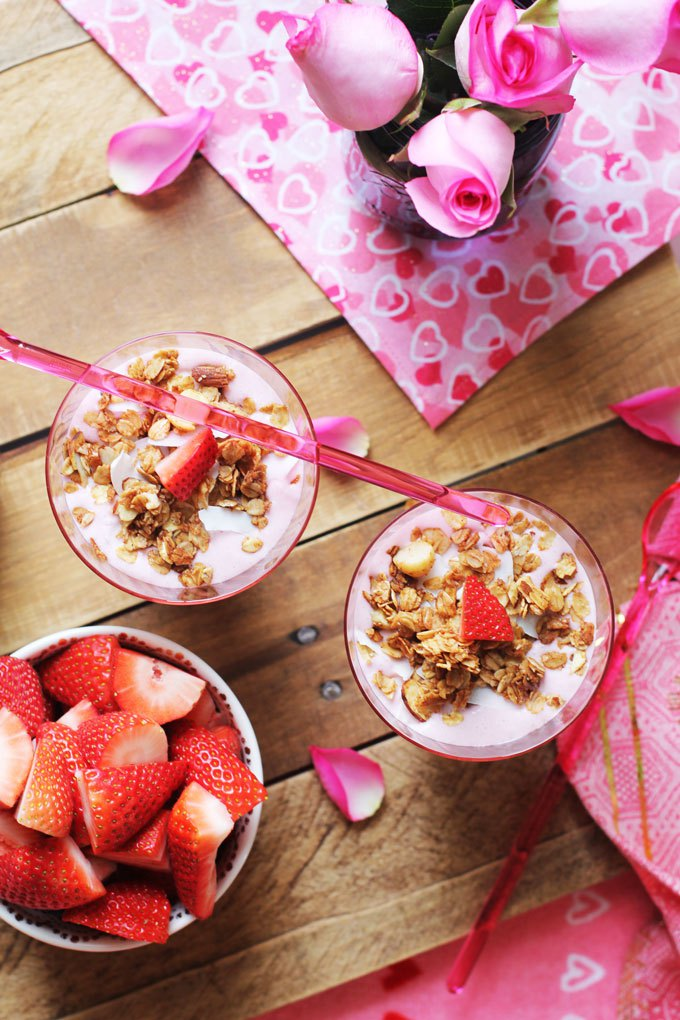 13. Strawberry Coconut Cream Smoothie Bowls