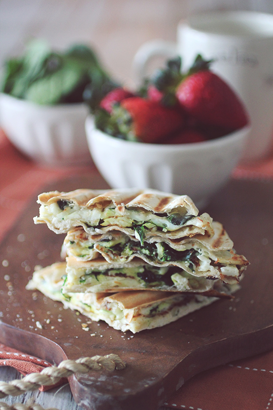 19. Spinach Feta Egg White Wrap