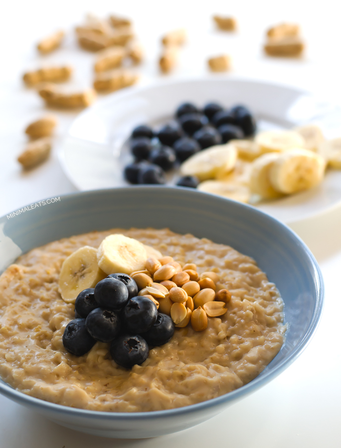 19. Vegan Blueberry Peanut Butter Oats