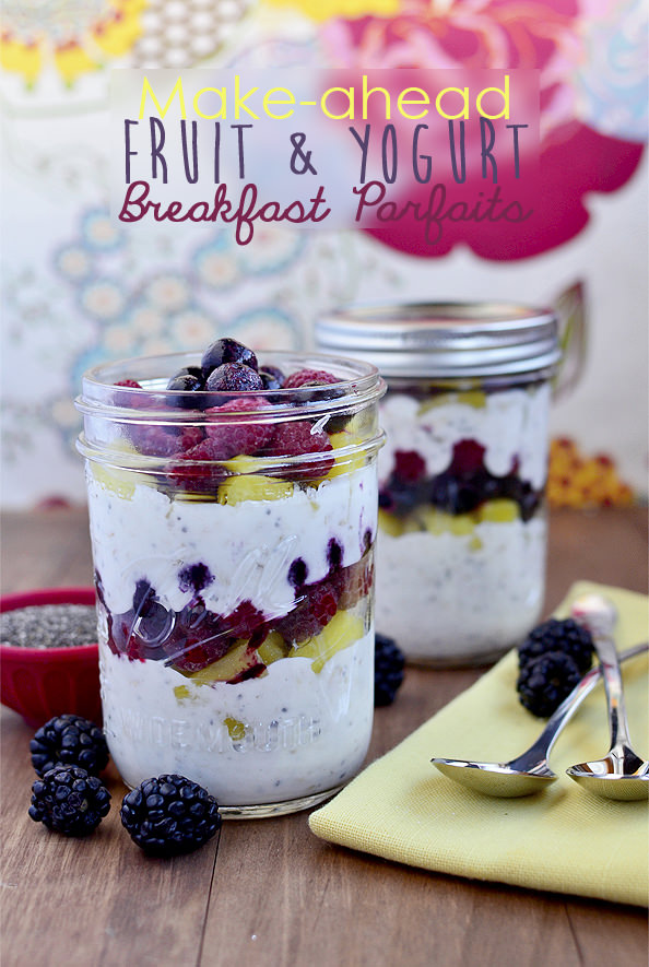 2. Make-Ahead Fruit & Yogurt Breakfast Parfaits
