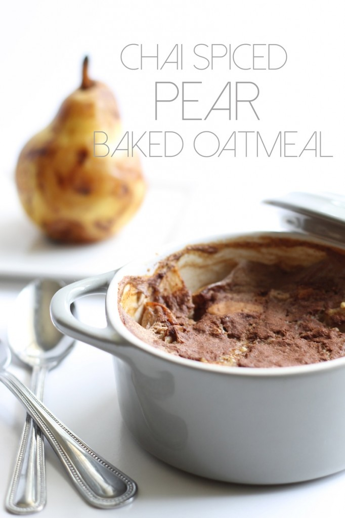 30. Chia Spiced Pear Baked Steel Cut Oatmeal