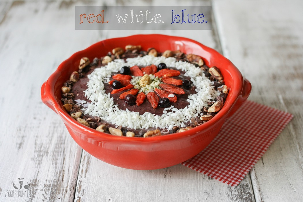 40. Patriotic Smoothie Bowl- Red, White & Blueberry