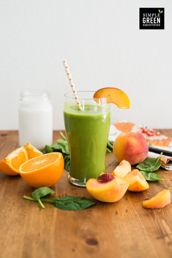6. Coconut Peach Green Smoothie