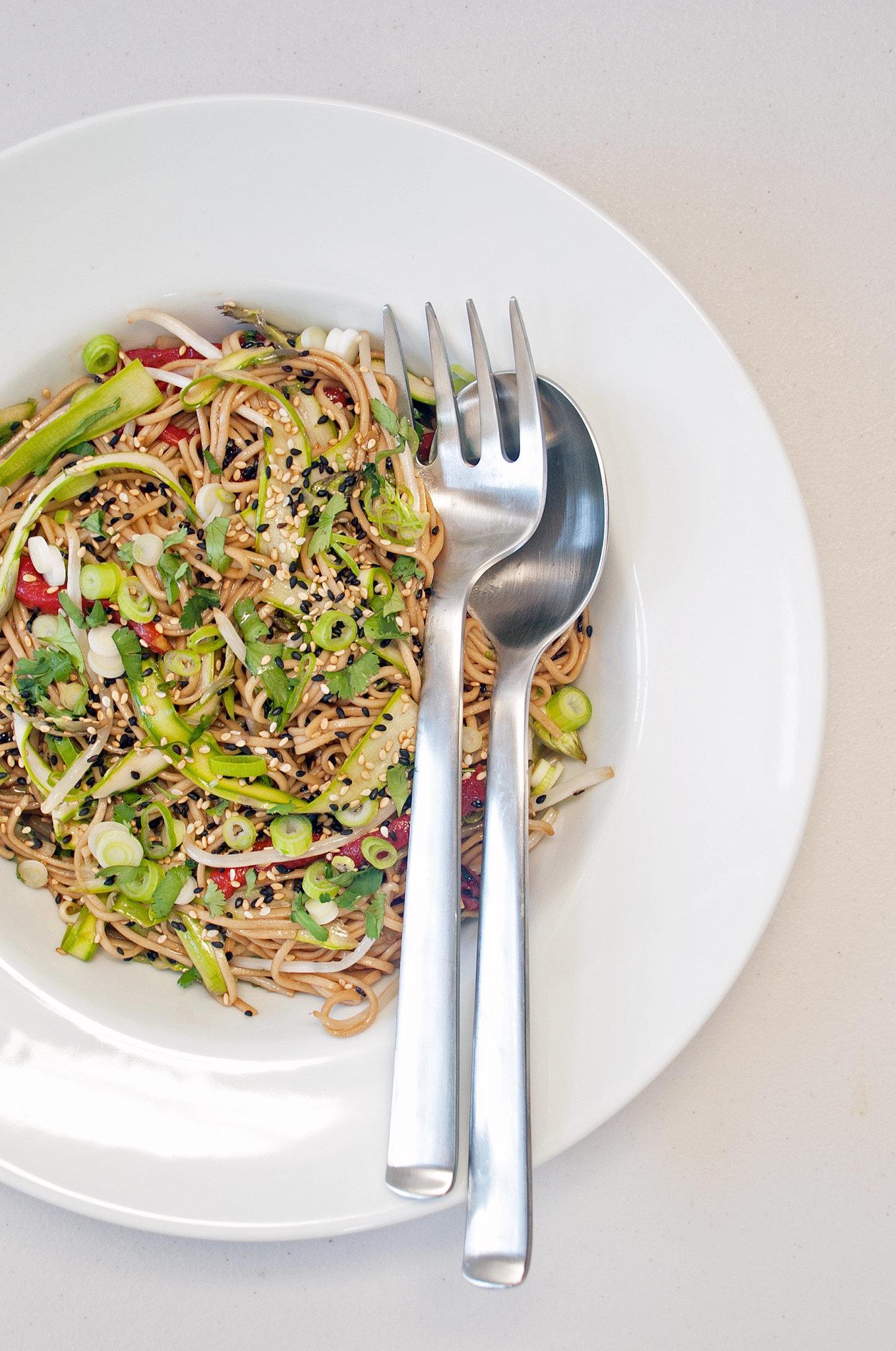 1. Sesame-Ginger Soba Noodle Salad