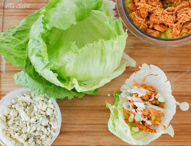 13. Buffalo Chicken Lettuce Wraps