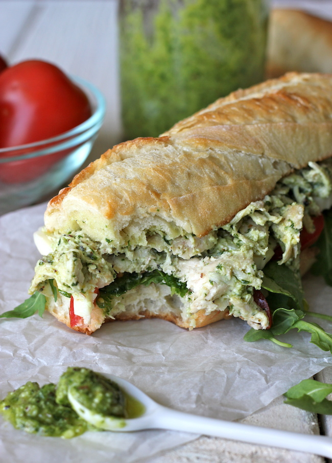 13. Lighter Chicken Salad with Pesto