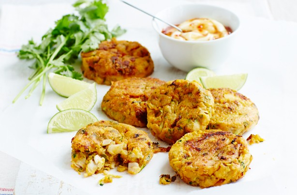 13. Sweet potato and courgette fish cakes