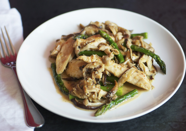 18. Chicken, Asparagus, And Wild Mushroom Stir-Fry