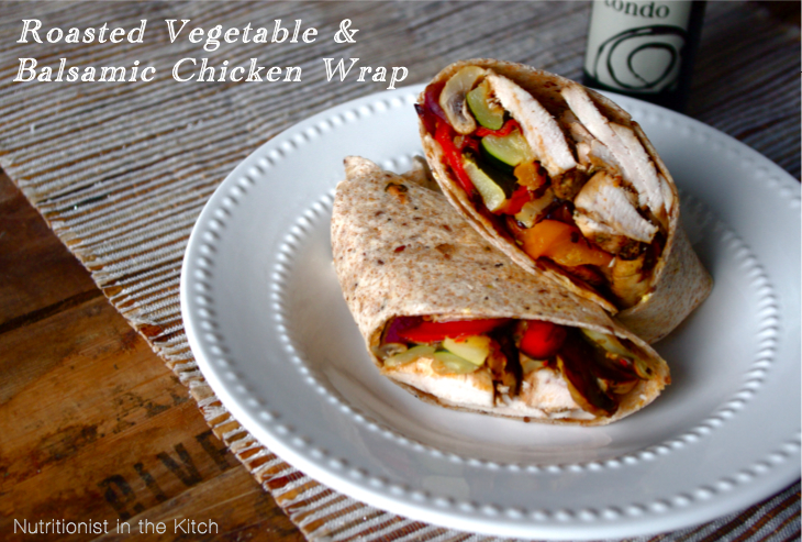 18. Roasted Vegetable & Balsamic Chicken Wrap