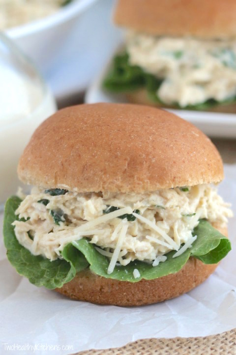 19. Crock Pot Chicken Caesar Sandwich
