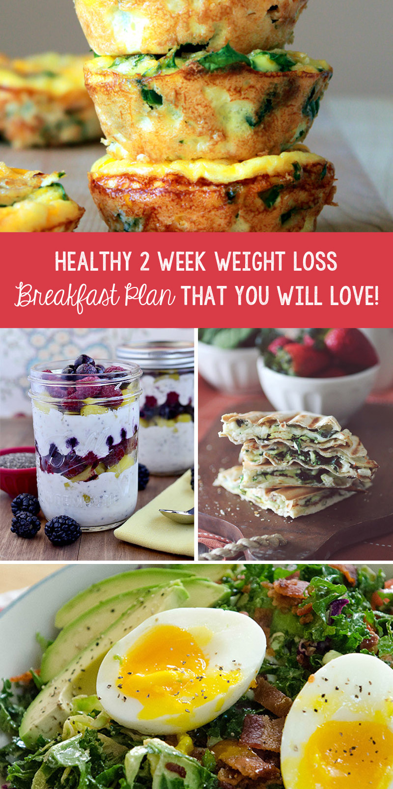 Healthy 2 Week Weight Loss Breakfast Plan That You Will Love!