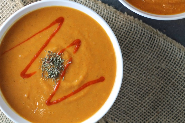 2. Spicy Roasted Red Pepper Soup