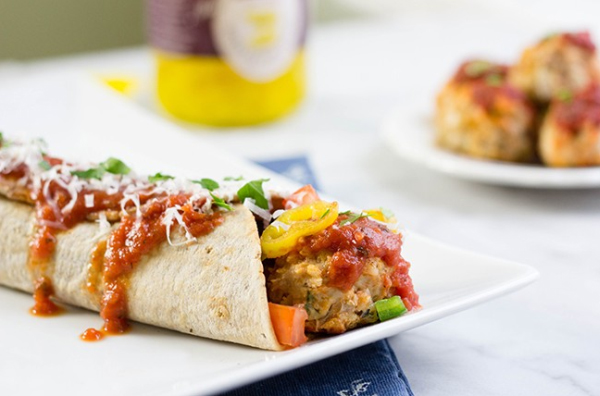 21. Zesty Italian Meatball Wrap