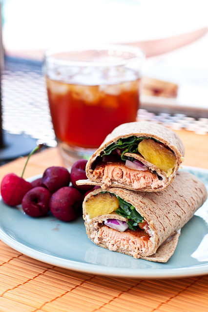 22. Spicy Salmon & Grilled Pineapple Wrap