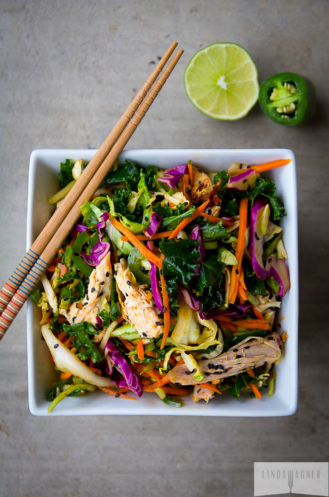 3. 5-Minute Spicy Asian Chicken Salad