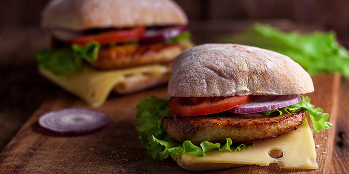 6. Chicken Ciabatta Sandwiches with Homemade Chicken Patties