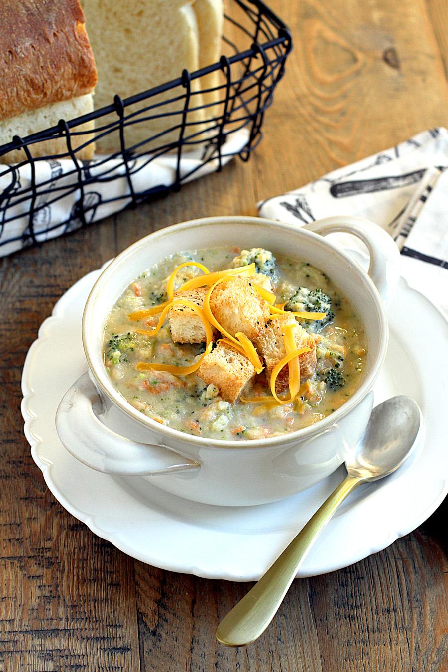 6. Healthy Broccoli Cheddar Soup copy