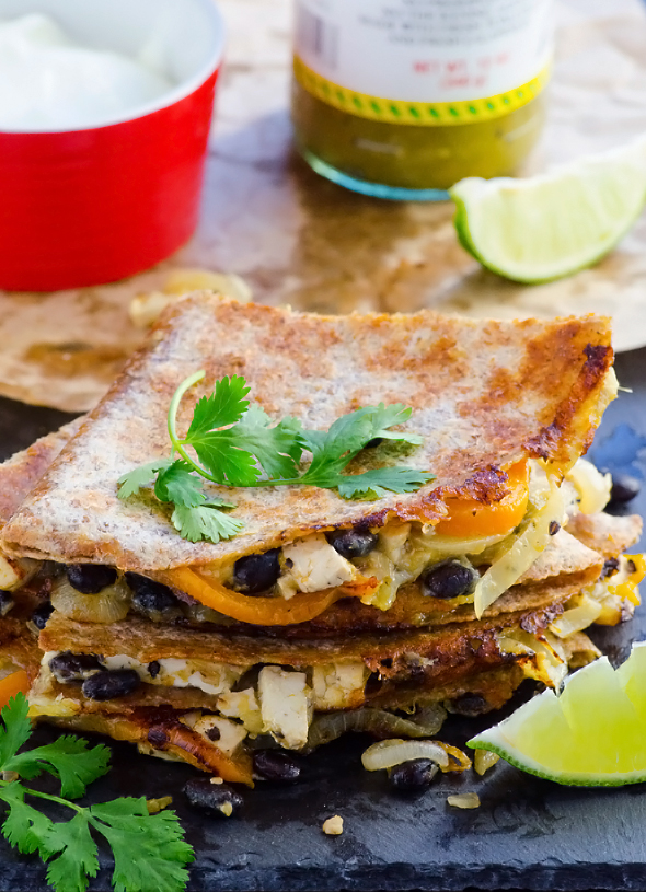 6. Whole Wheat Fajita Quesadillas