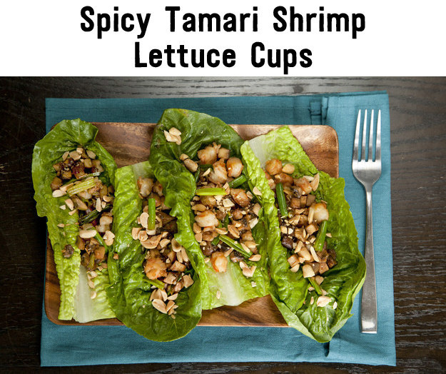7. Spicy Tamari Shrimp Lettuce Cups