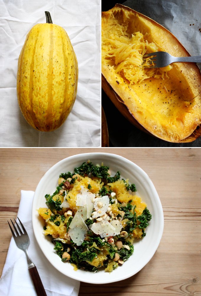 8. Spaghetti Squash With Kale, Hazelnuts, and Chickpeas