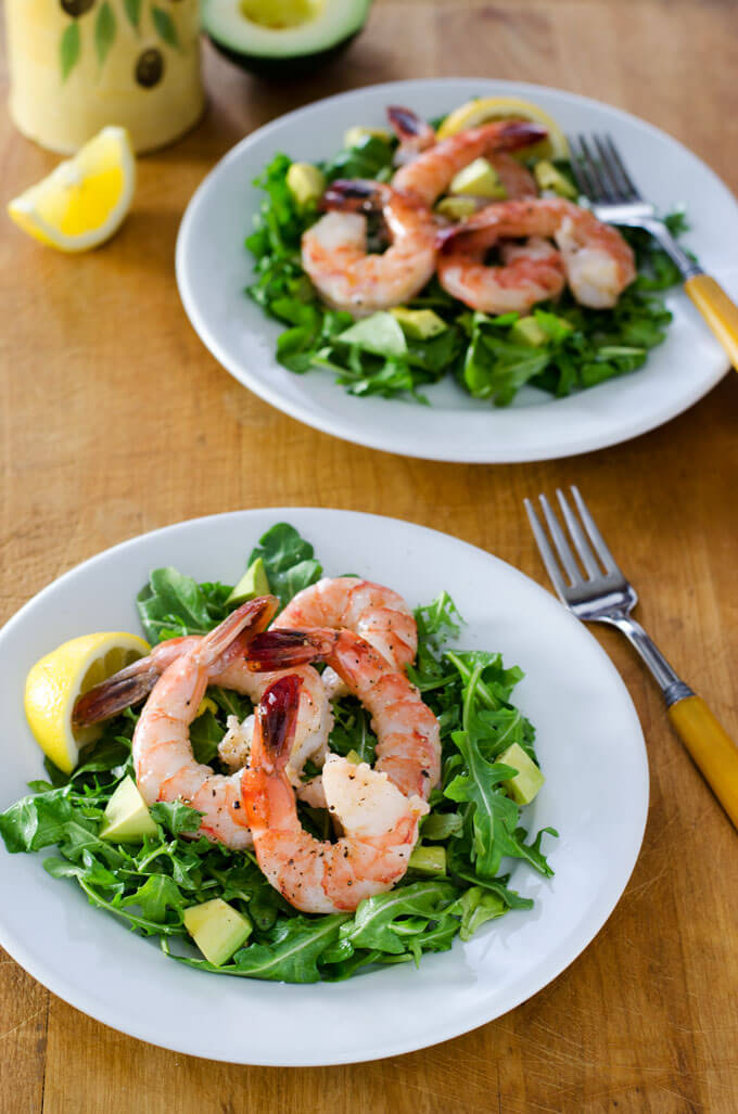 9. Shrimp Arugula Salad With Avocado