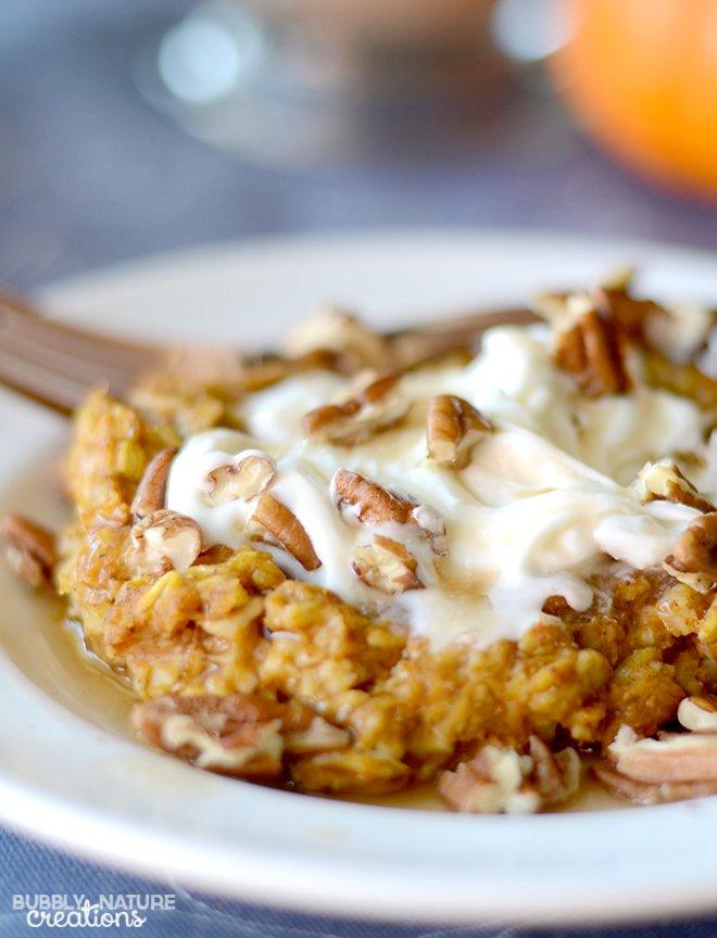 Baked-Pumpkin-Pie-Oatmeal-Perfect-Fall-Weather-food...-tastes-like ...