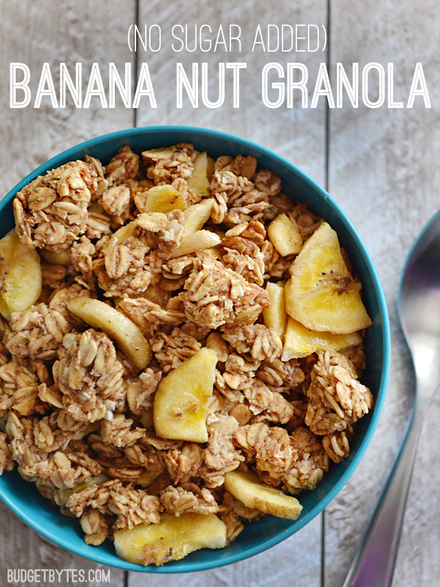 Breakfast: Banana Nut Granola.