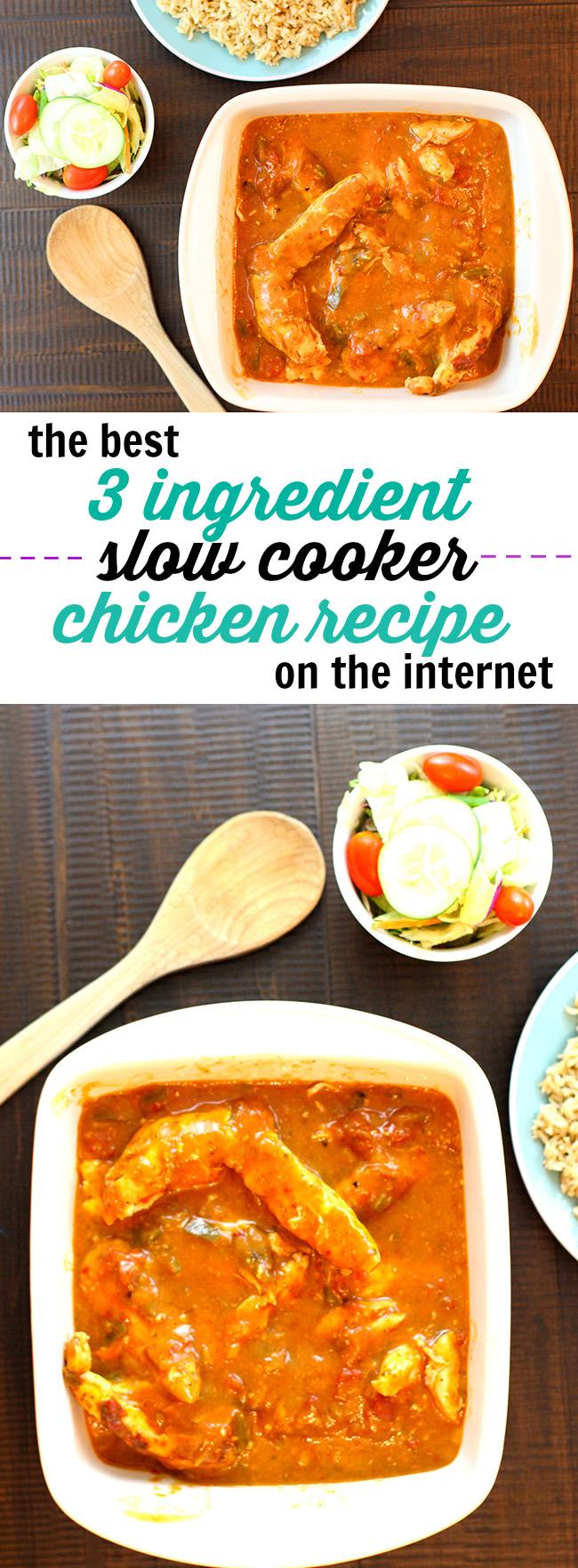 Slow Cooker Fiesta Chicken - TrimmedandToned