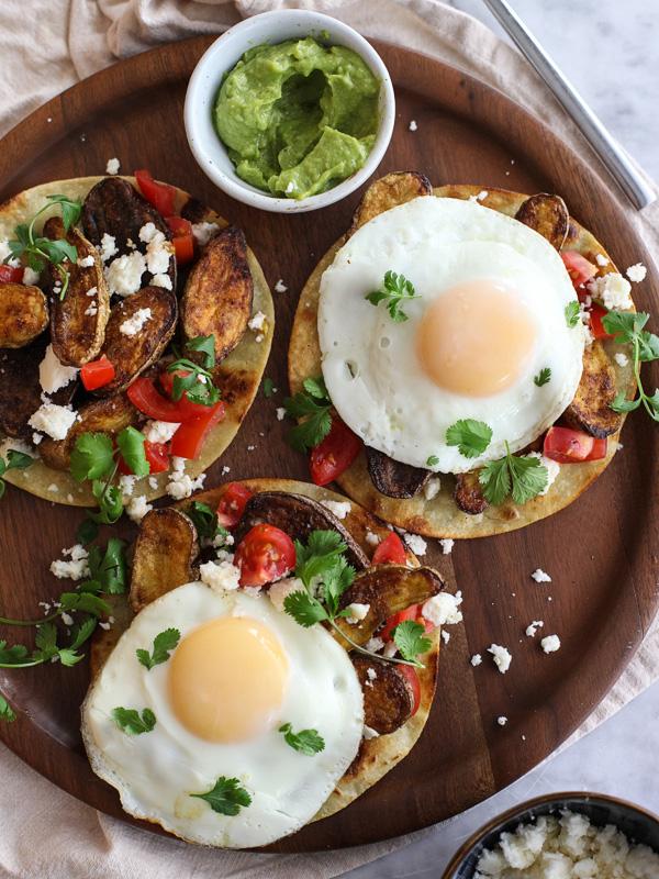 12. Breakfast Tostadas With Cumin-Roasted Fingerling Potatoes